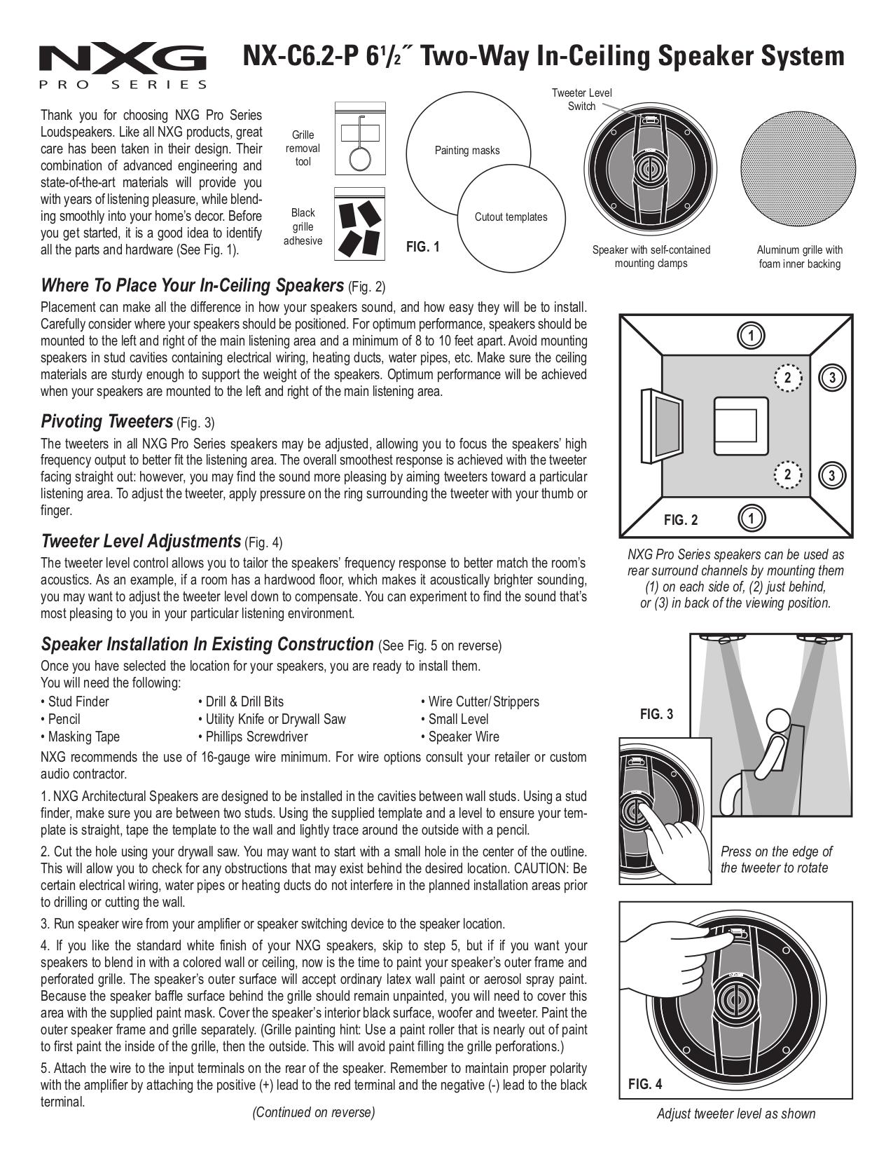 pdf for Nxg Speaker 620 manual