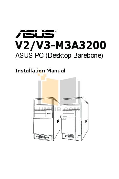 pdf for Asus Desktop V3-M3A3200 manual