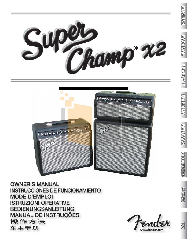 fender super champ xd manual pdf