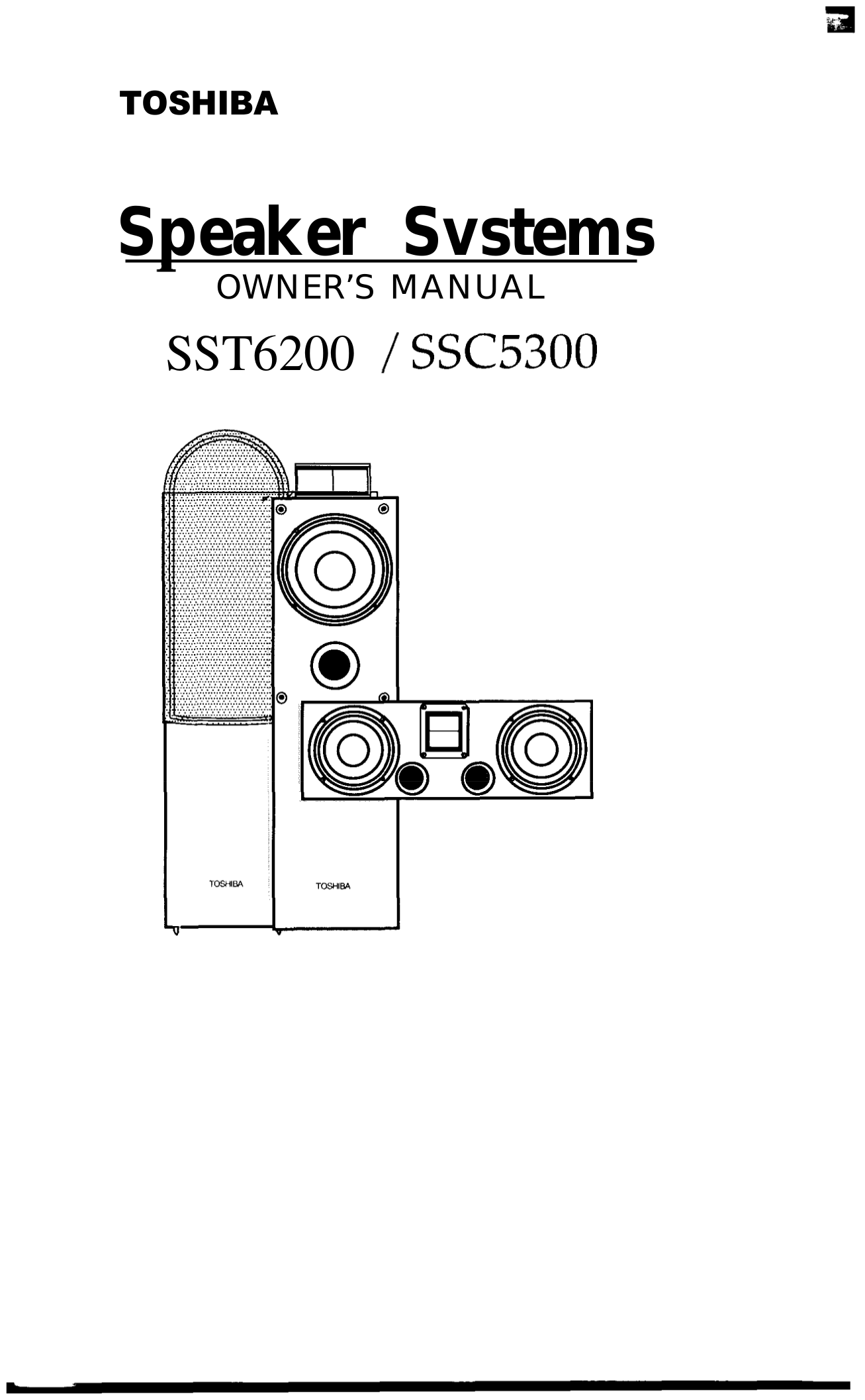 pdf for Toshiba Speaker System SSC5300 manual