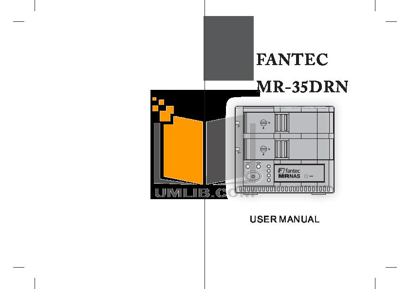 pdf for Fantec Other MR-35DRN Servers manual