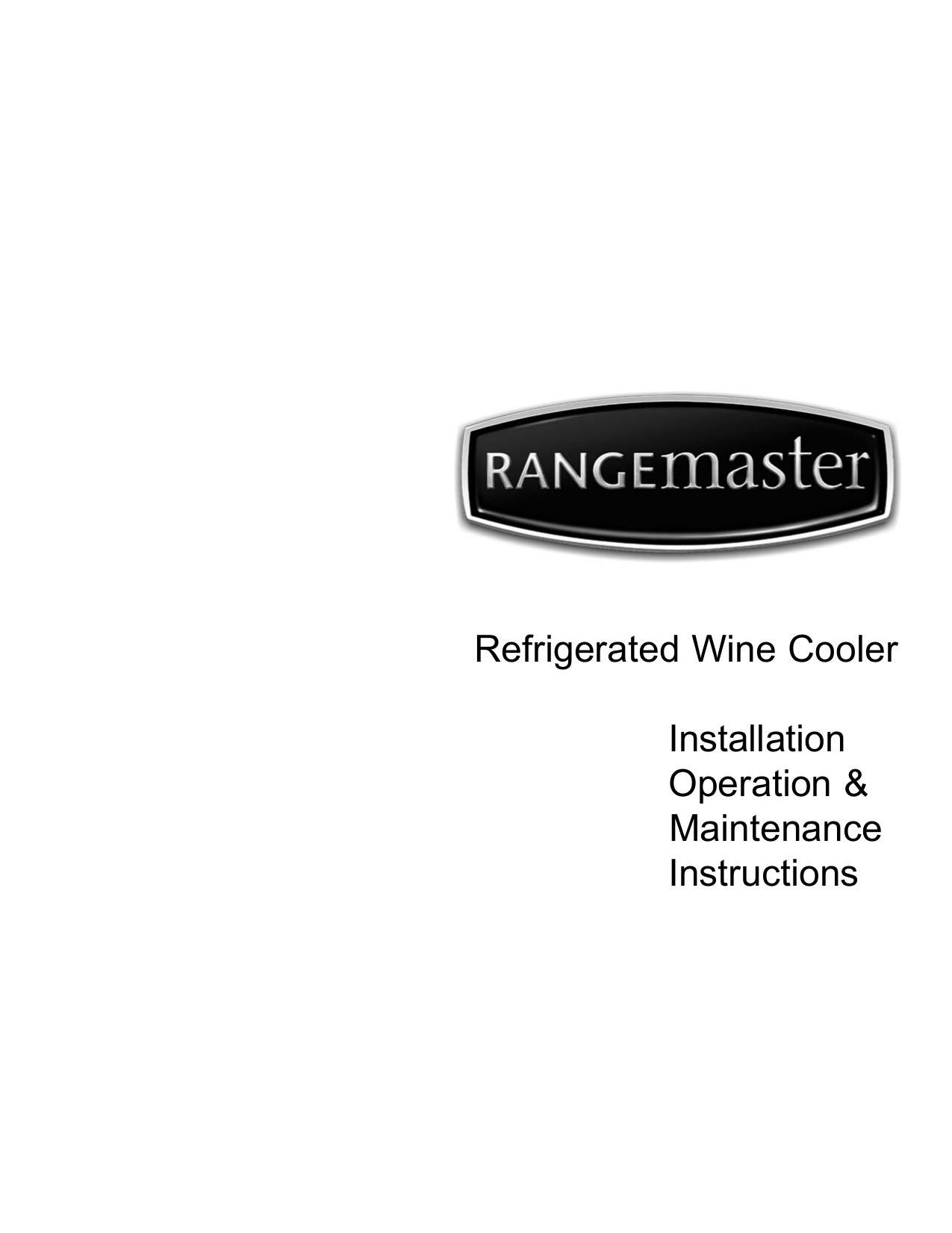 pdf for Rangemaster Other Wine Cooler Wine Cooler manual