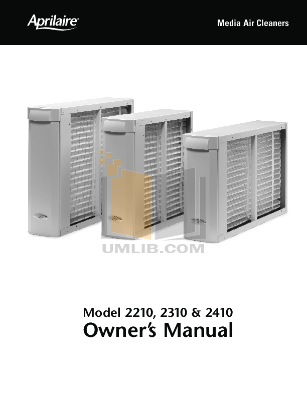 pdf for Aprilaire Air Purifier 2410 manual