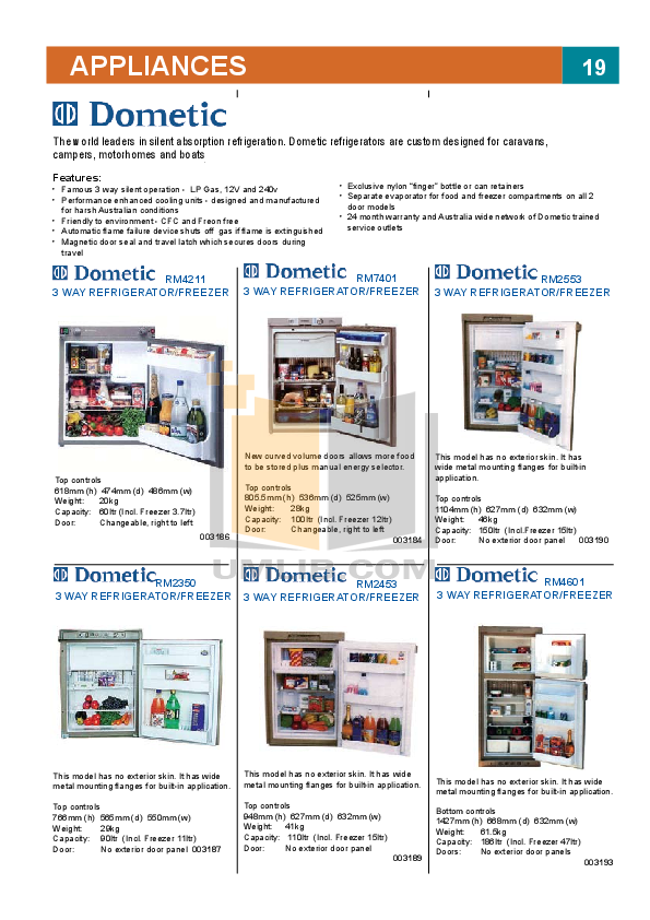 pdf for Engel Freezer MT45F manual