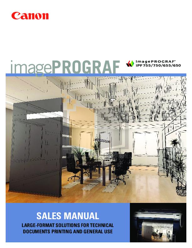 pdf for Canon Printer imagePROGRAF iPF750 manual