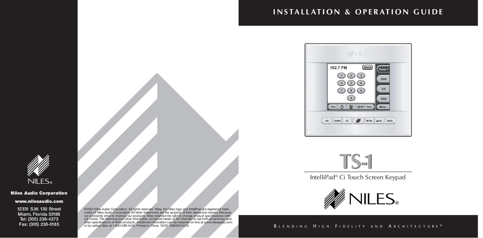 pdf for Niles Amp A4.6Ci manual