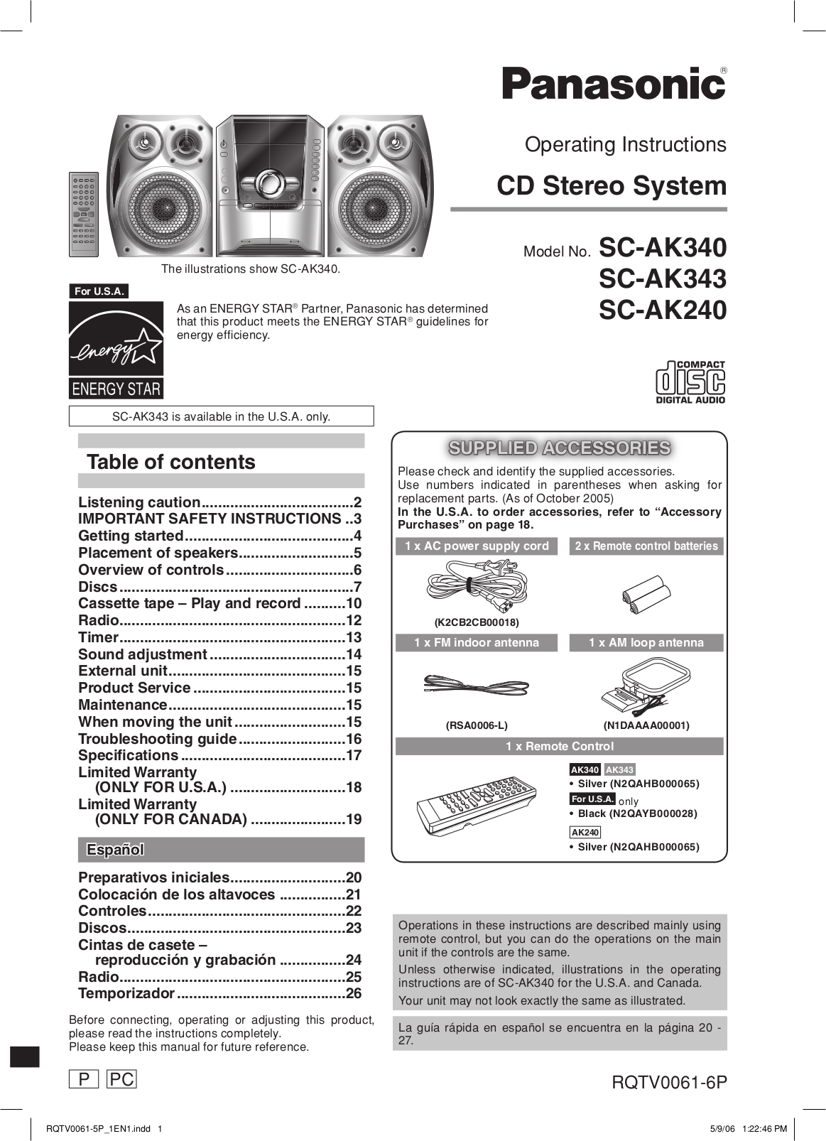 pdf for Lenoxx Boombox CD-208 manual