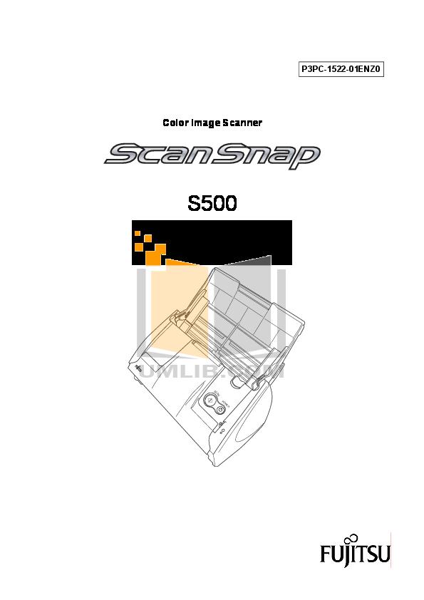 pdf for Cardscan Scanner 500 manual