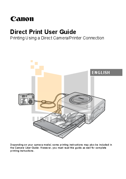 pdf for Canon Printer CP-100 manual