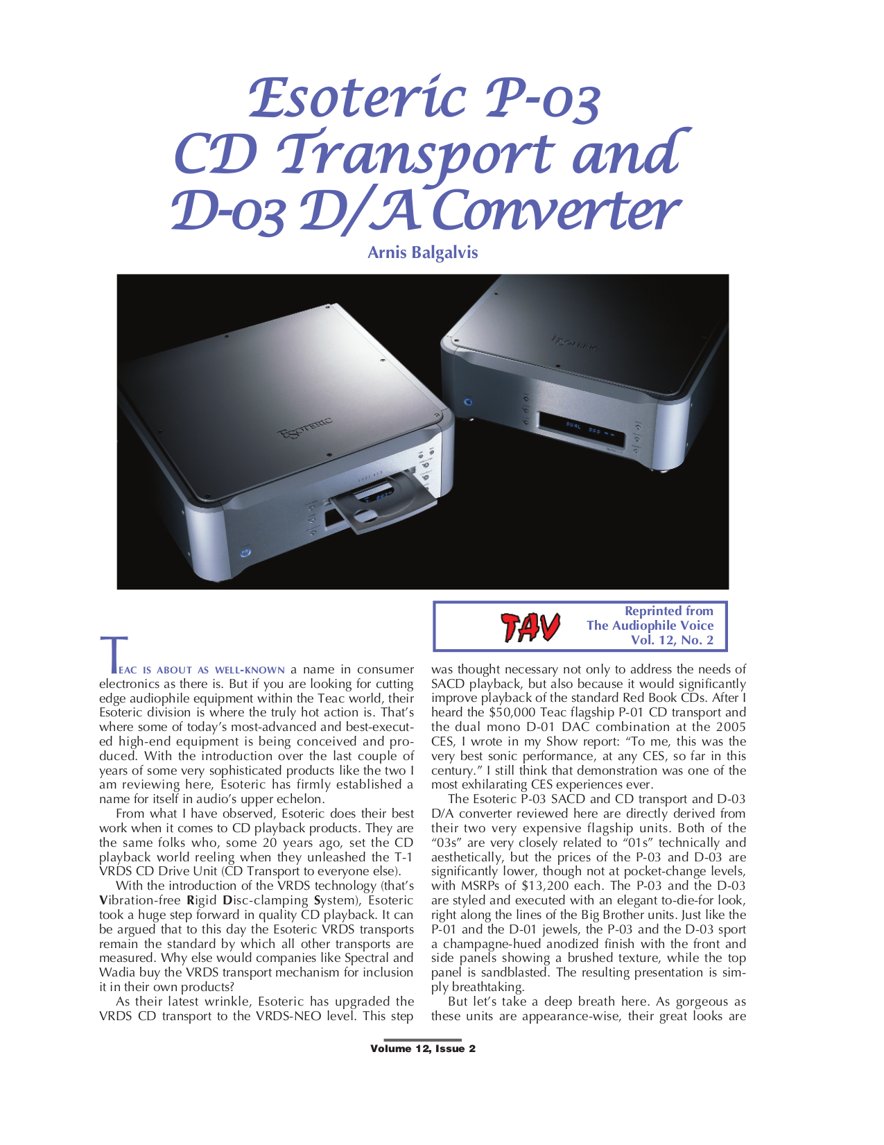 pdf for Teac Other D-01 Converter manual