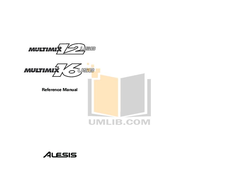 Alesis 12r Manual Pdf