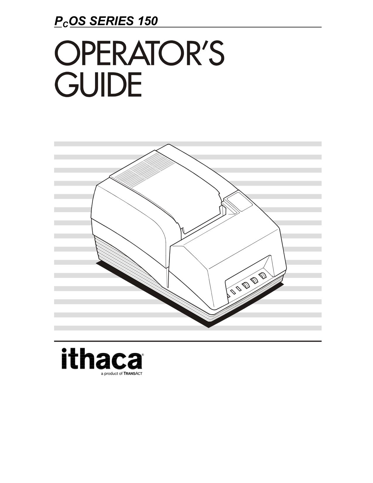 Ithaca 950 Printer Manual