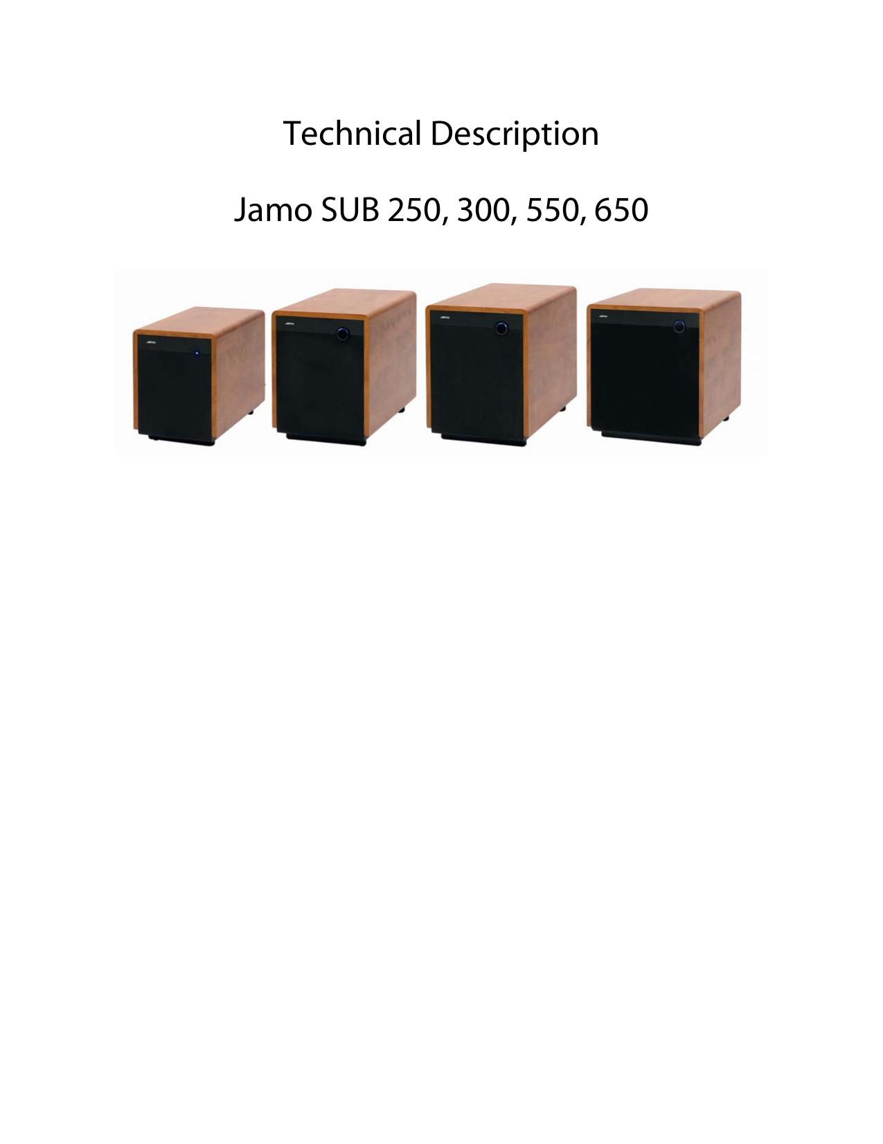 pdf for Jamo Subwoofer SUB 550 manual