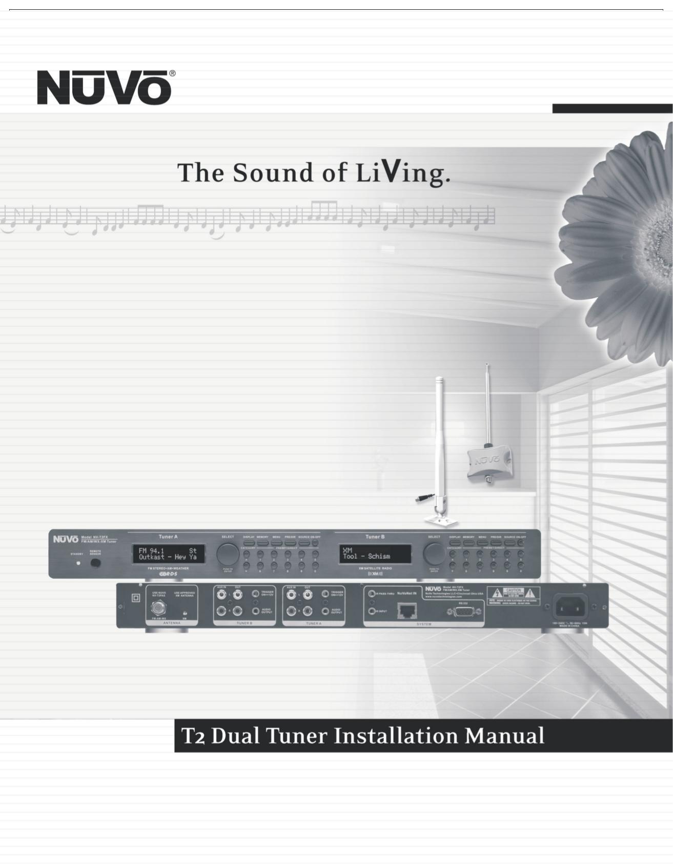 pdf for Nuvo Satellite Receiver NV-T2FX manual