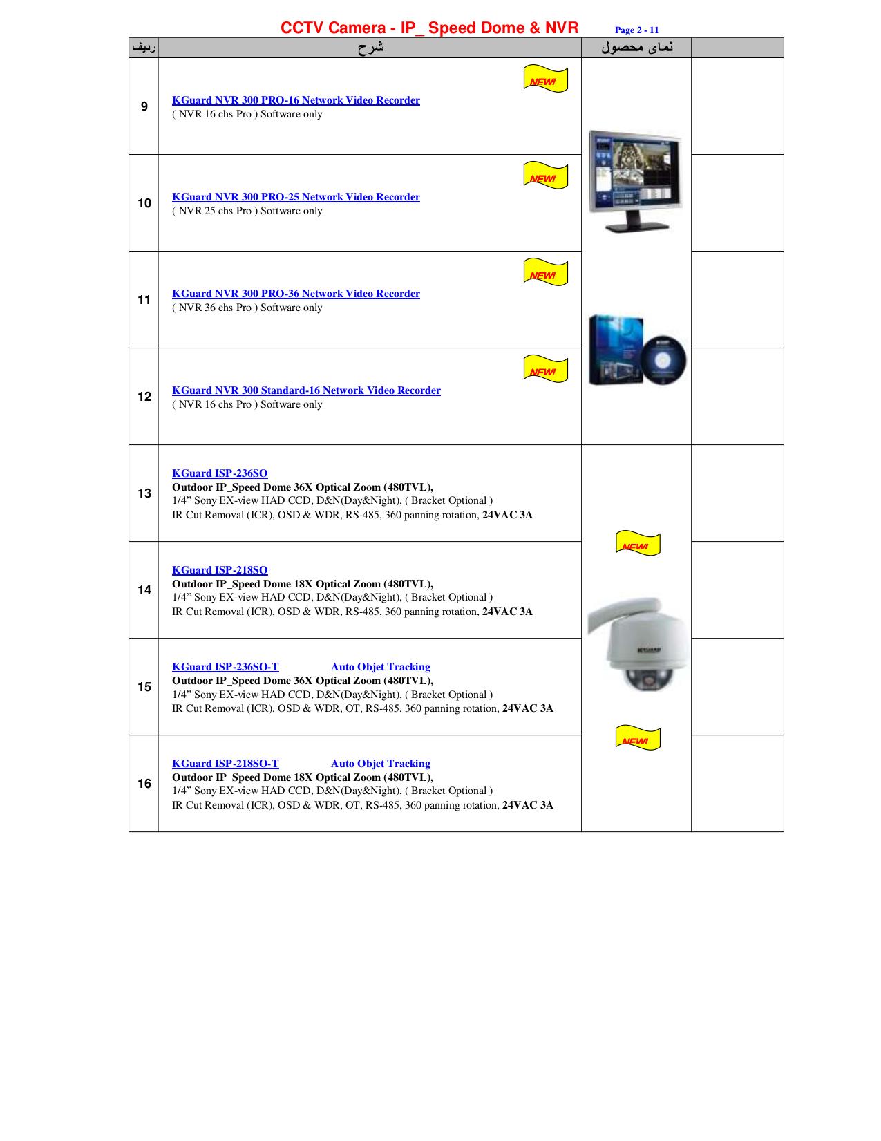 Kguard Security Camera CSP-3262-3B pdf page preview