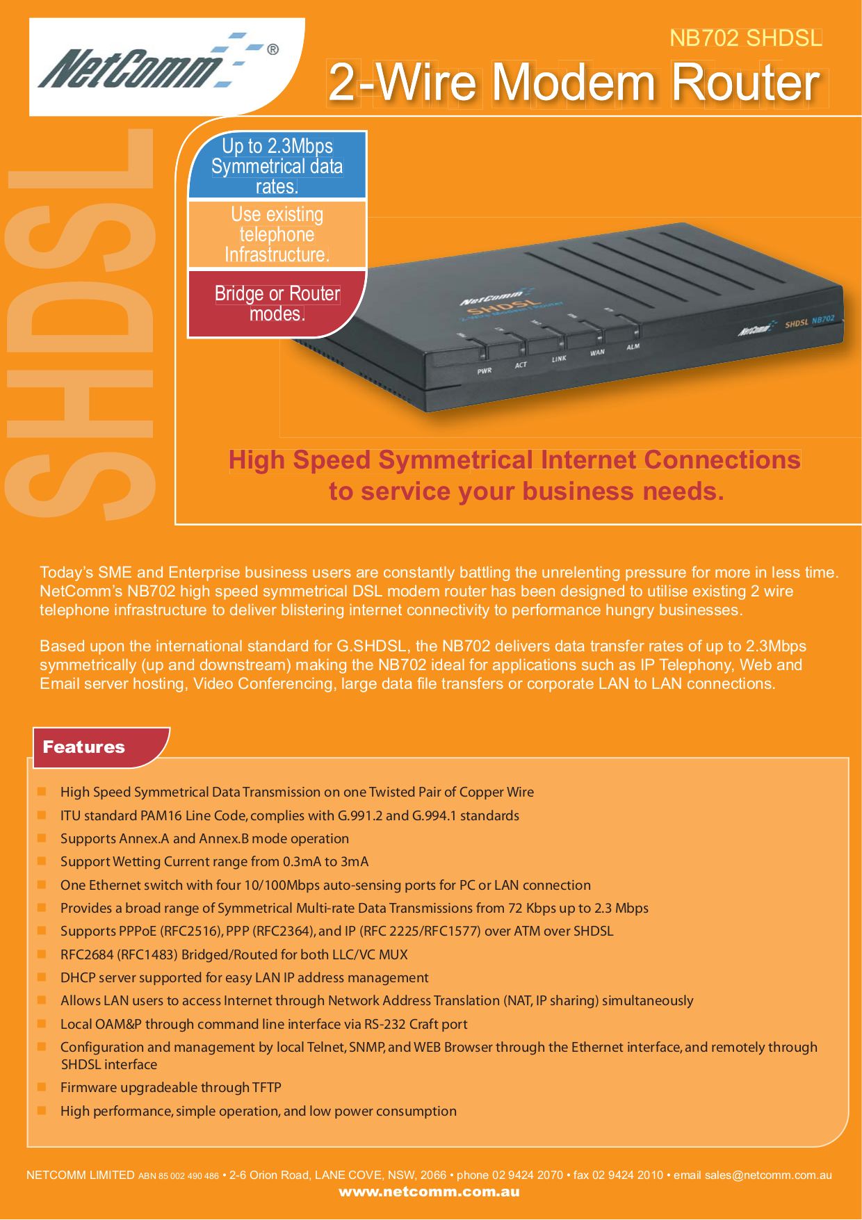 pdf for Netcomm Router NB702 manual