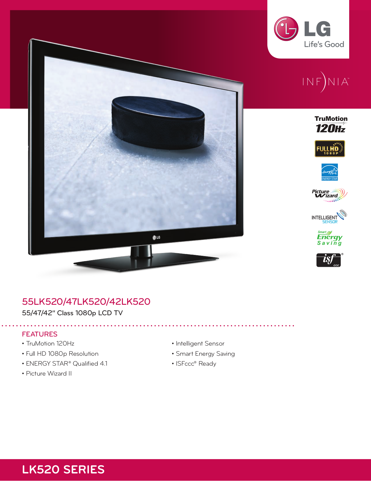 pdf for LG Plasma TV 55LK520 manual