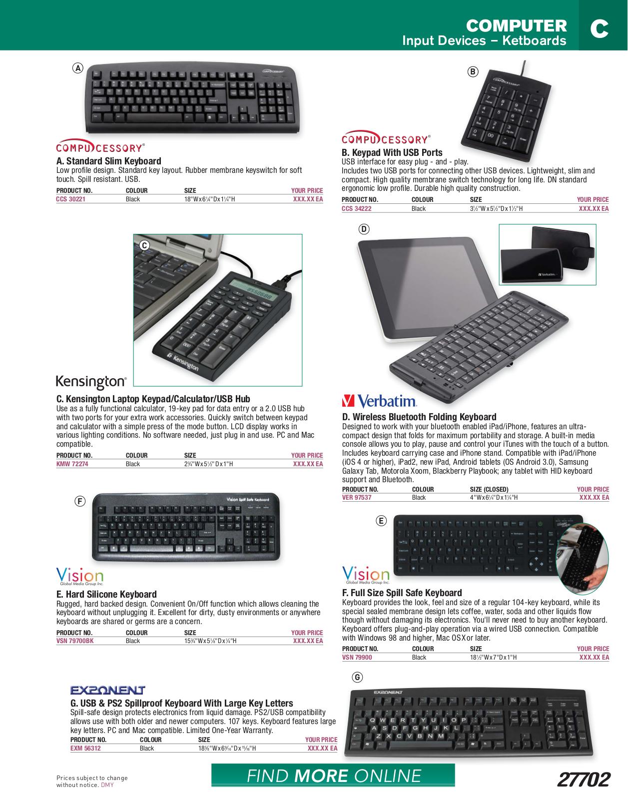 pdf for Kensington Keyboard 72274 manual