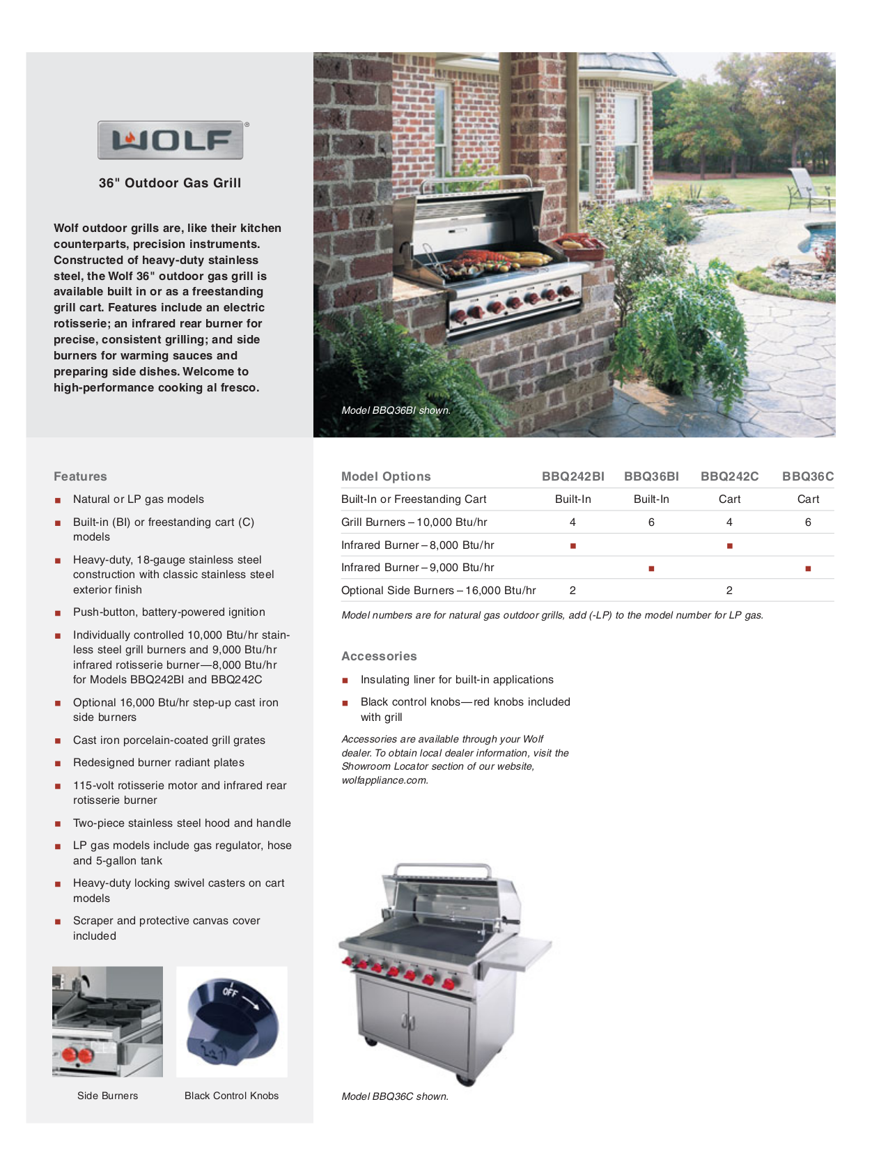 pdf for Wolf Grill BBQ36C manual