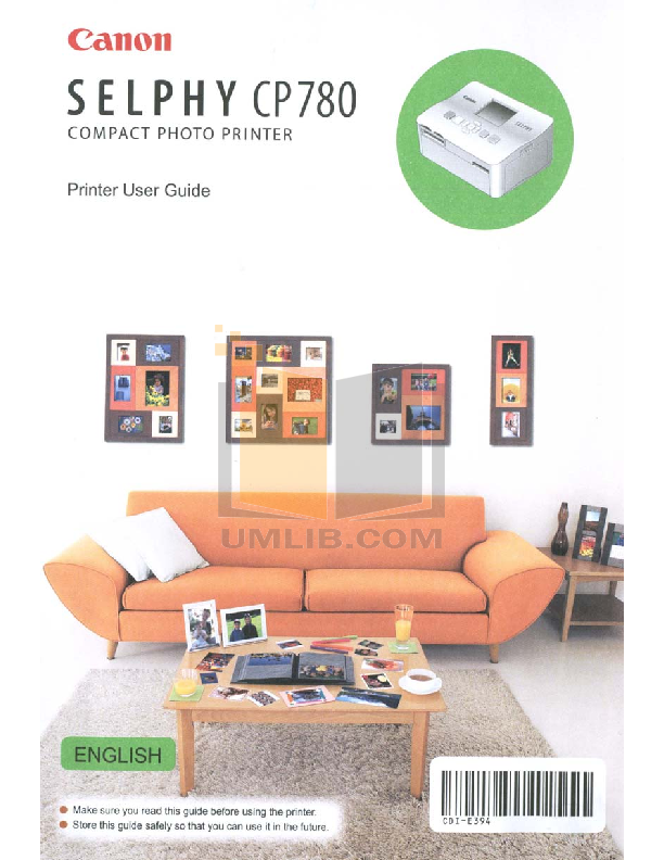 pdf for Canon Printer SELPHY CP780 manual