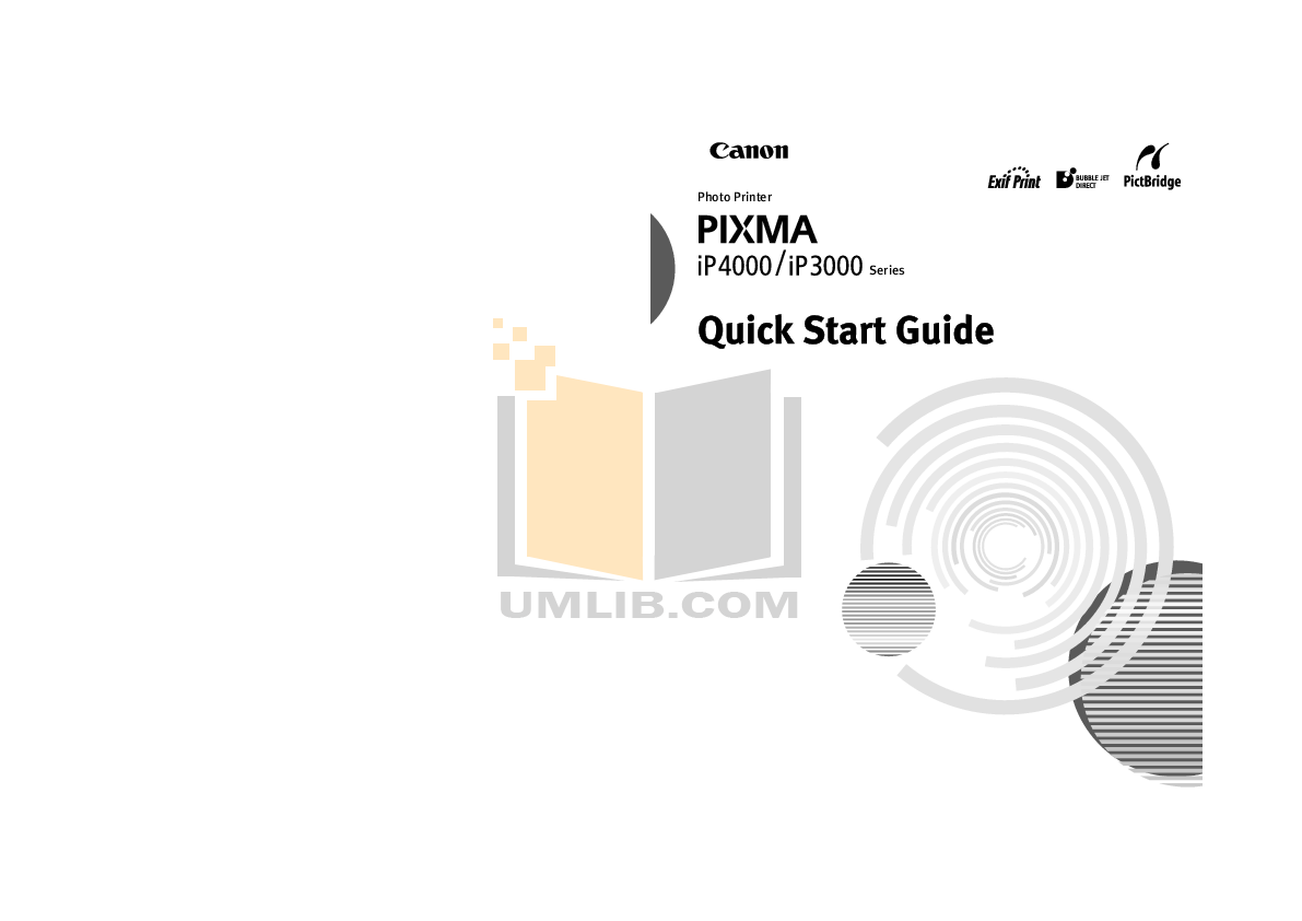 pdf for Canon Printer PIXMA iP3000 manual