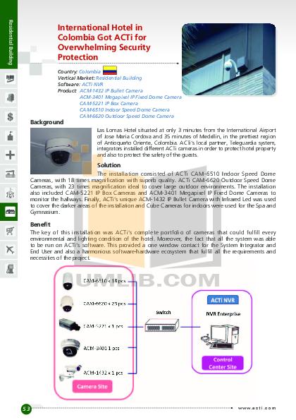pdf for ACTi Security Camera TCM-4201 manual