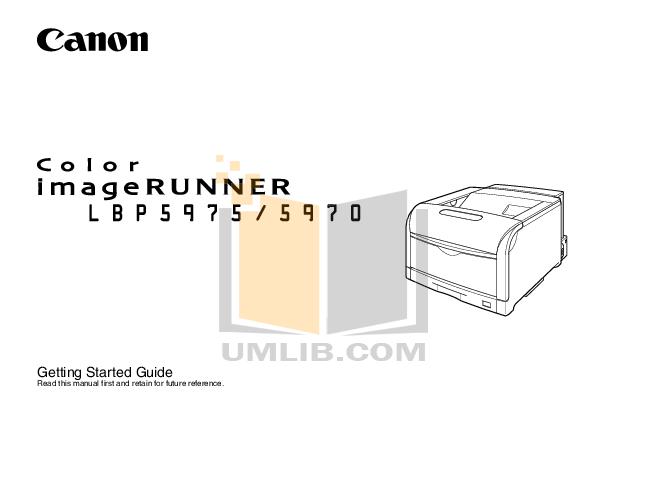 pdf for Canon Printer imageRUNNER LBP-5970 manual