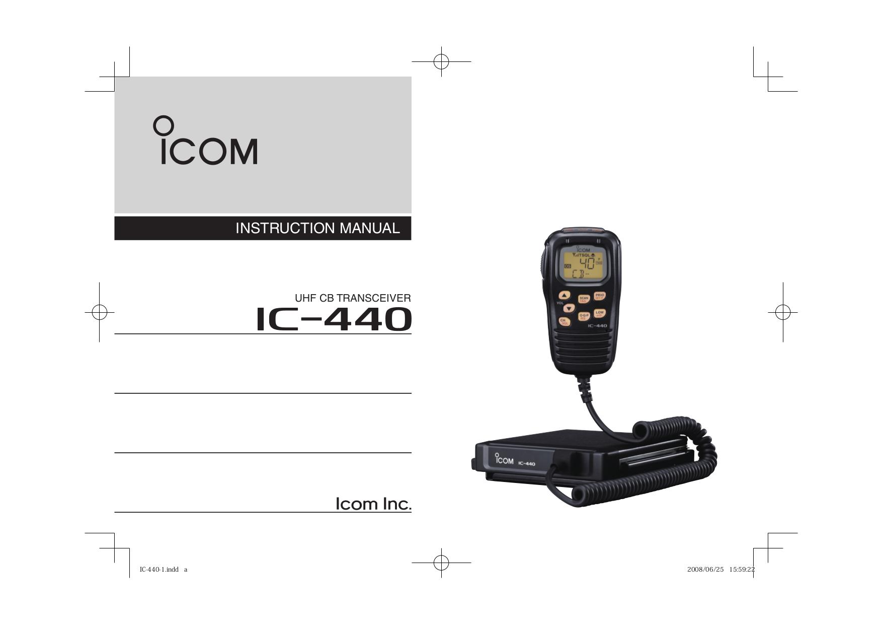 Icom Ic 440 Manual