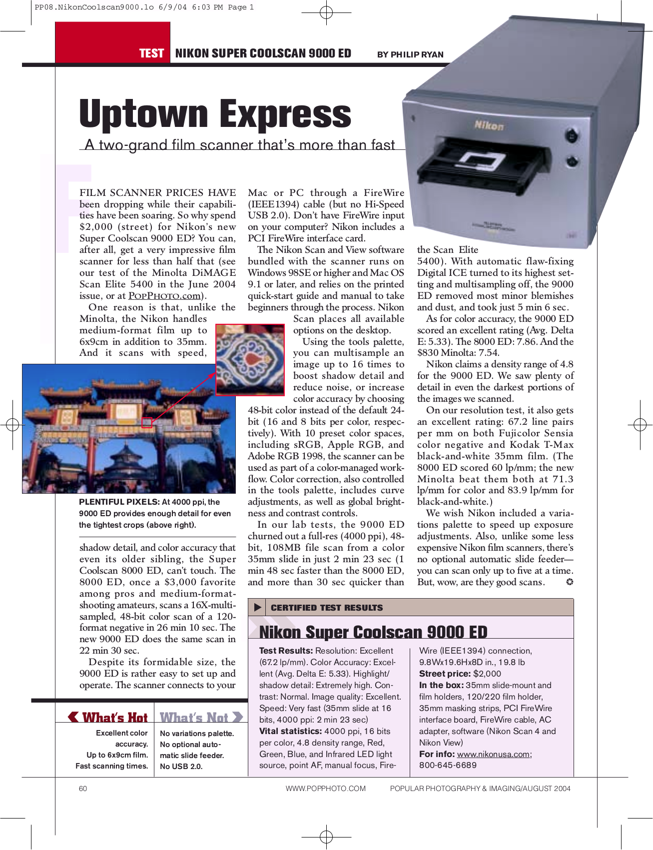 pdf for Nikon Scanner Coolscan 9000 ED manual