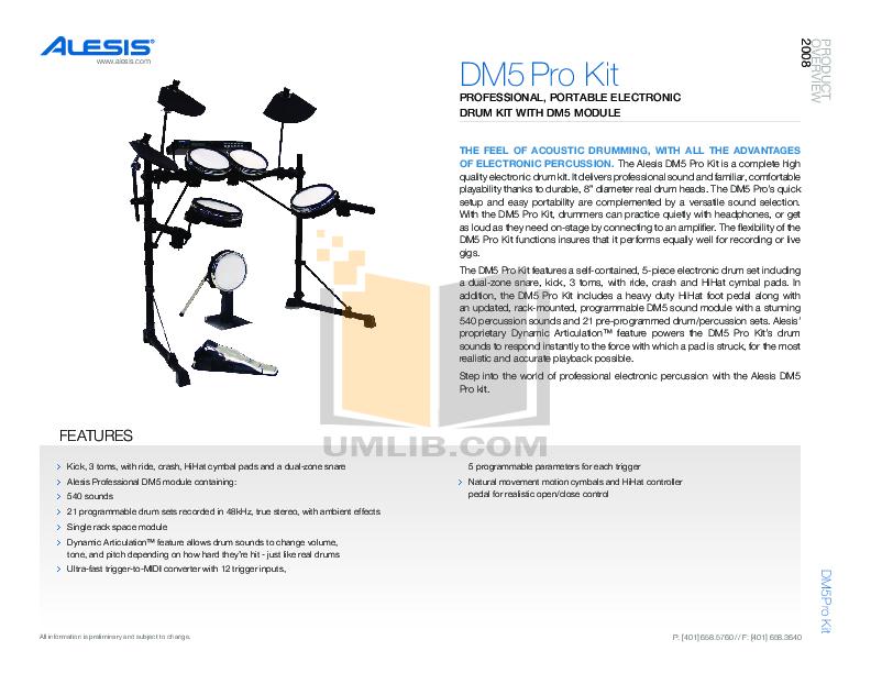 Alesis D4 Manual Pdf