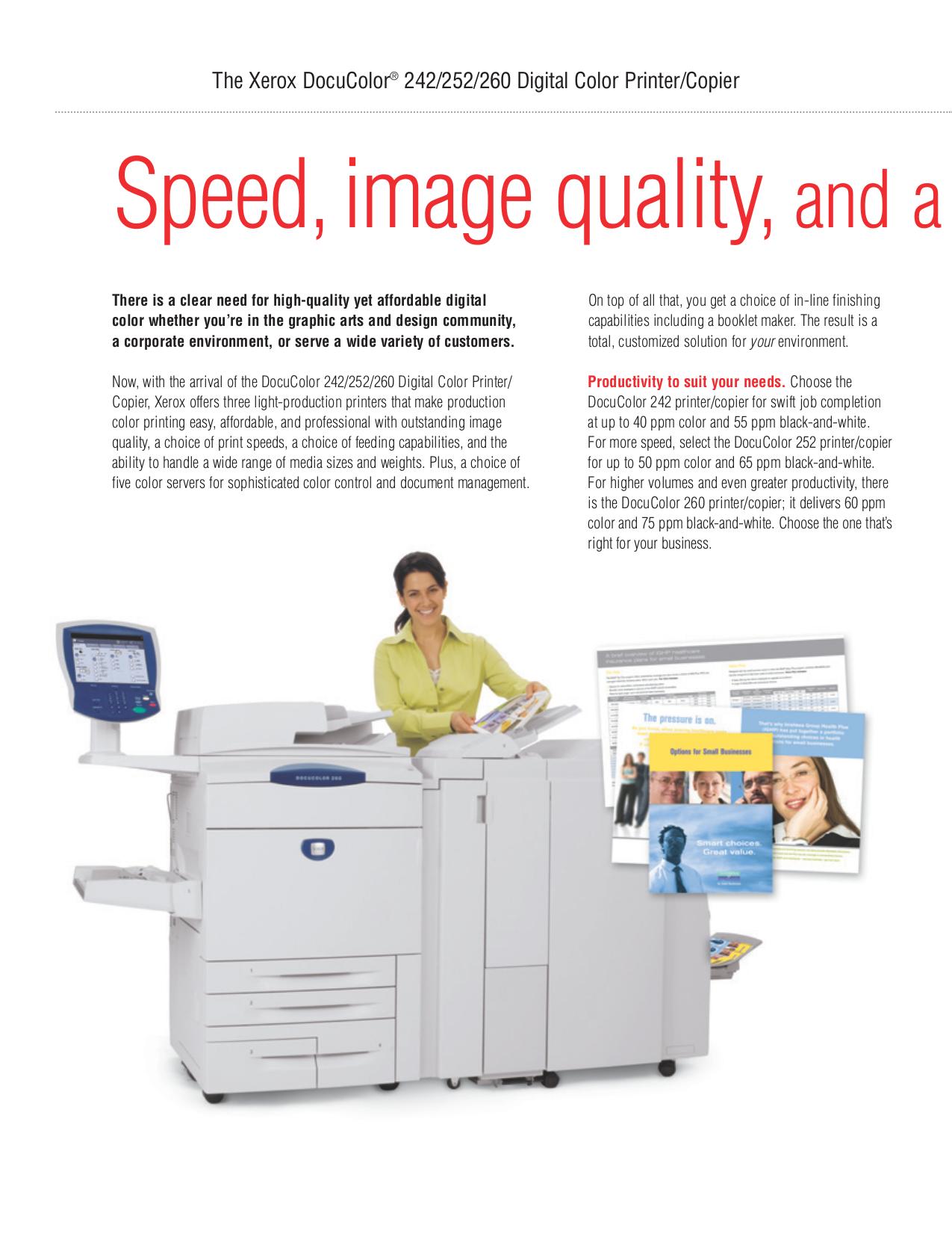 xerox docucolor 252 manual pdf