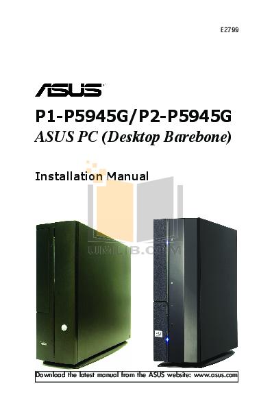 pdf for Asus Desktop P1-P5945GC manual