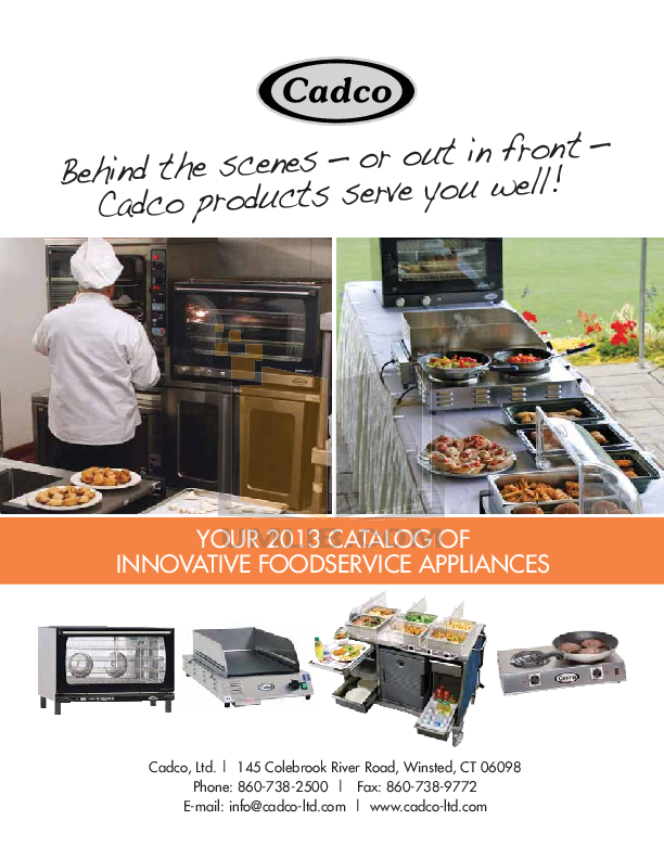 pdf for Cadco Other WT-40S Warming Trays manual
