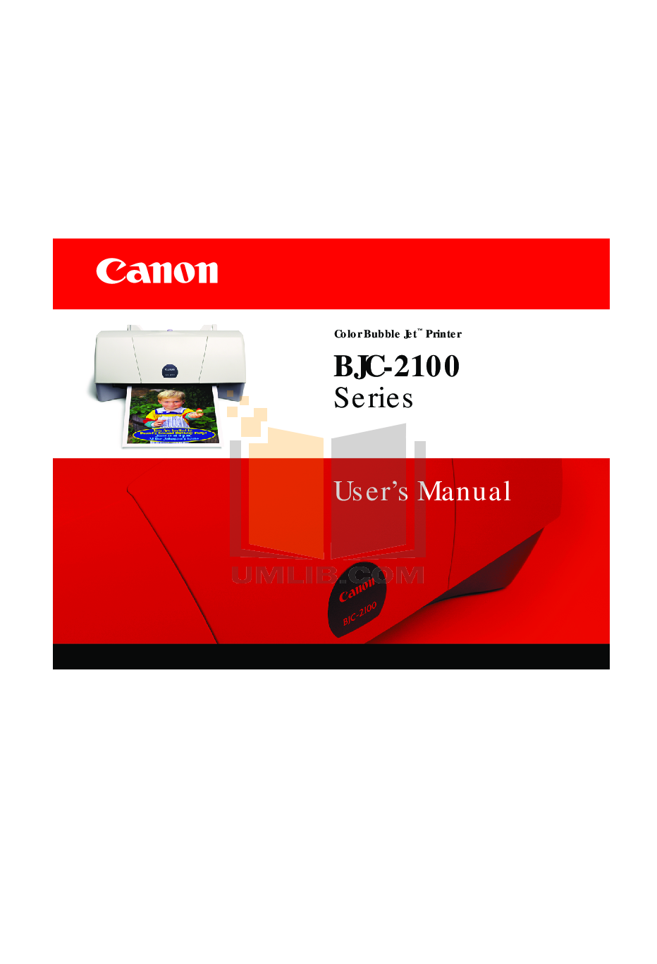 pdf for Canon Printer BJC-2000 manual