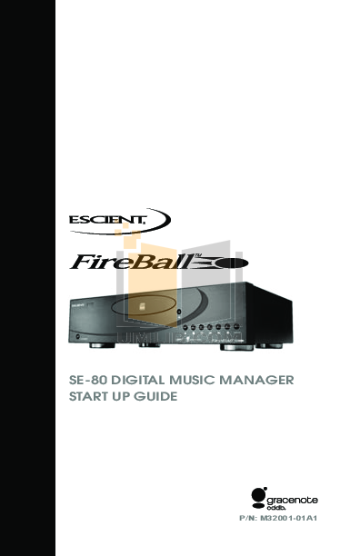 pdf for Escient CD Player SE-80 manual