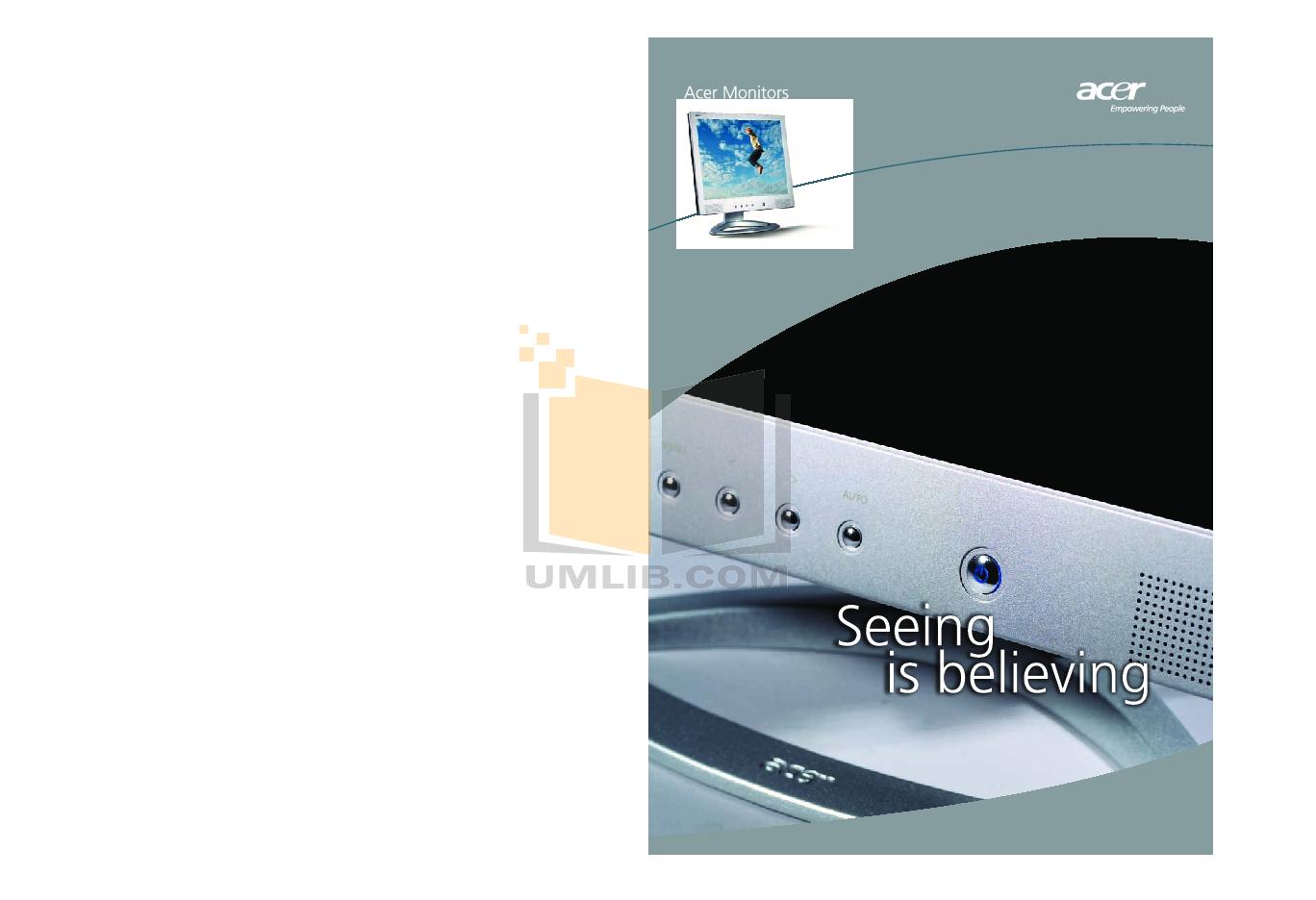 pdf for Acer Monitor AF707 manual