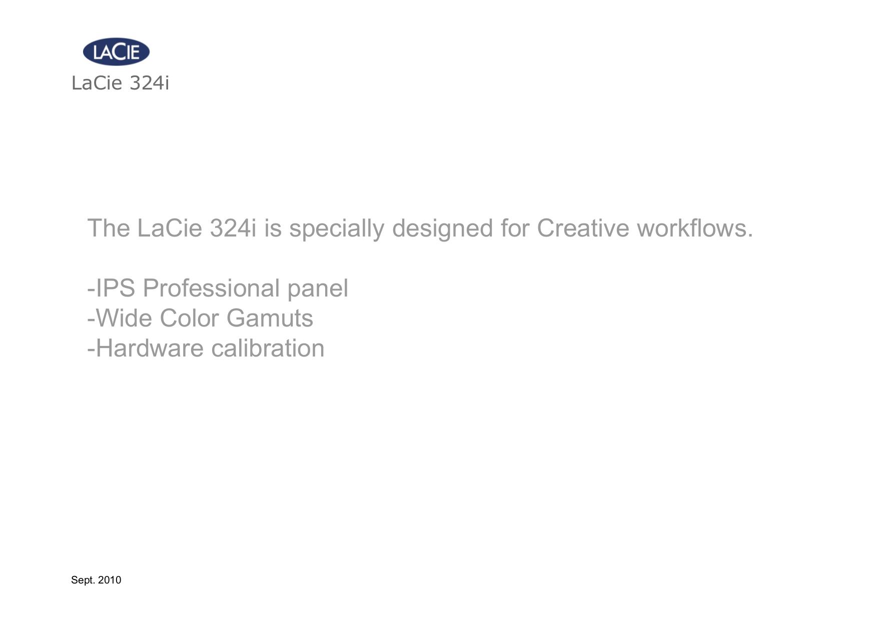 LaCie Monitor 324I pdf page preview