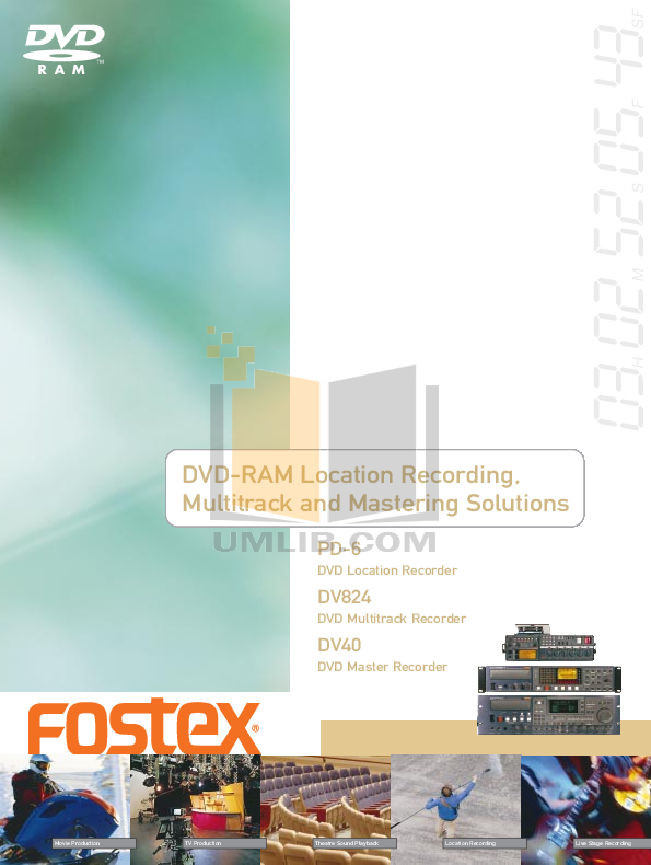 pdf for Fostex DVD Players FR-2 manual