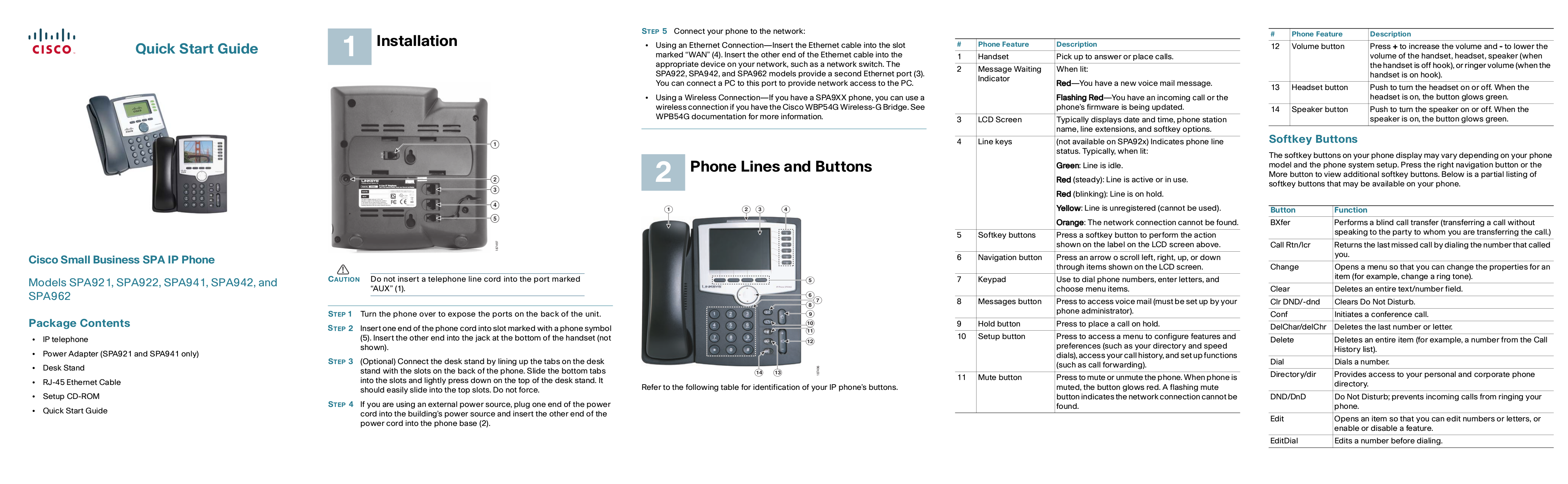 pdf for Linksys Telephone SPA941 manual