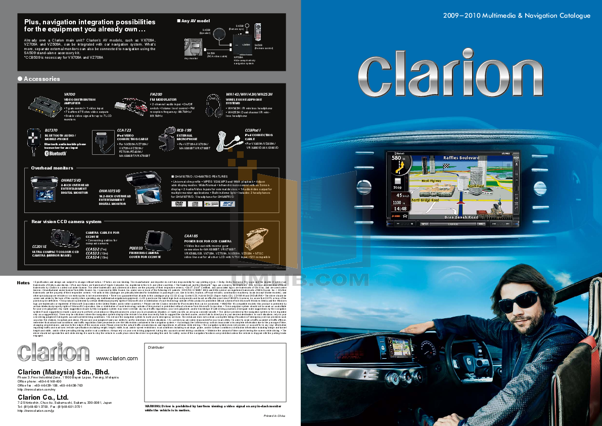 pdf for Clarion Other FM200 Audio-Accessories manual