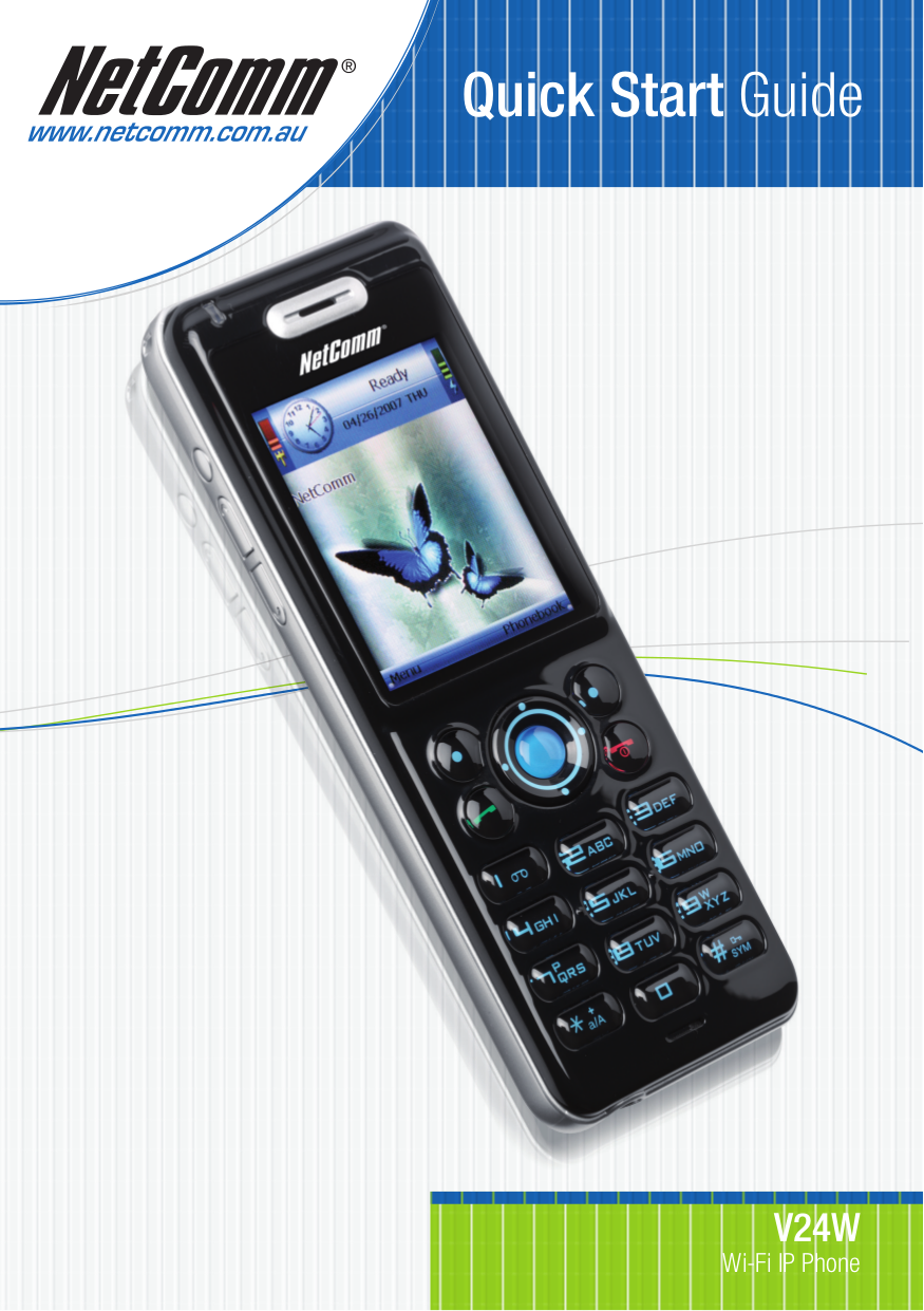 pdf for Netcomm Cell Phone V24W manual