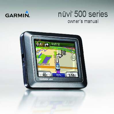 Garmin nuvi 1450lmt owners manual