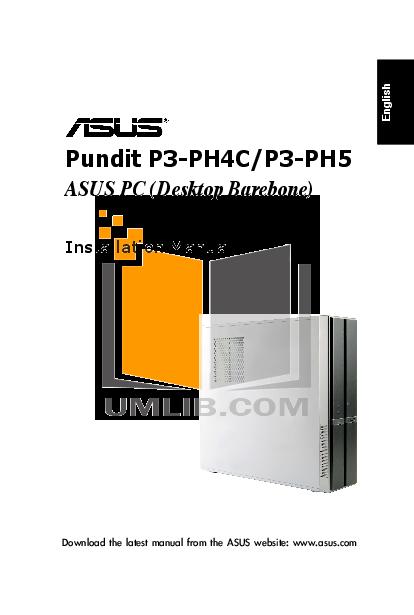pdf for Asus Desktop Pundit P3-PH4C manual