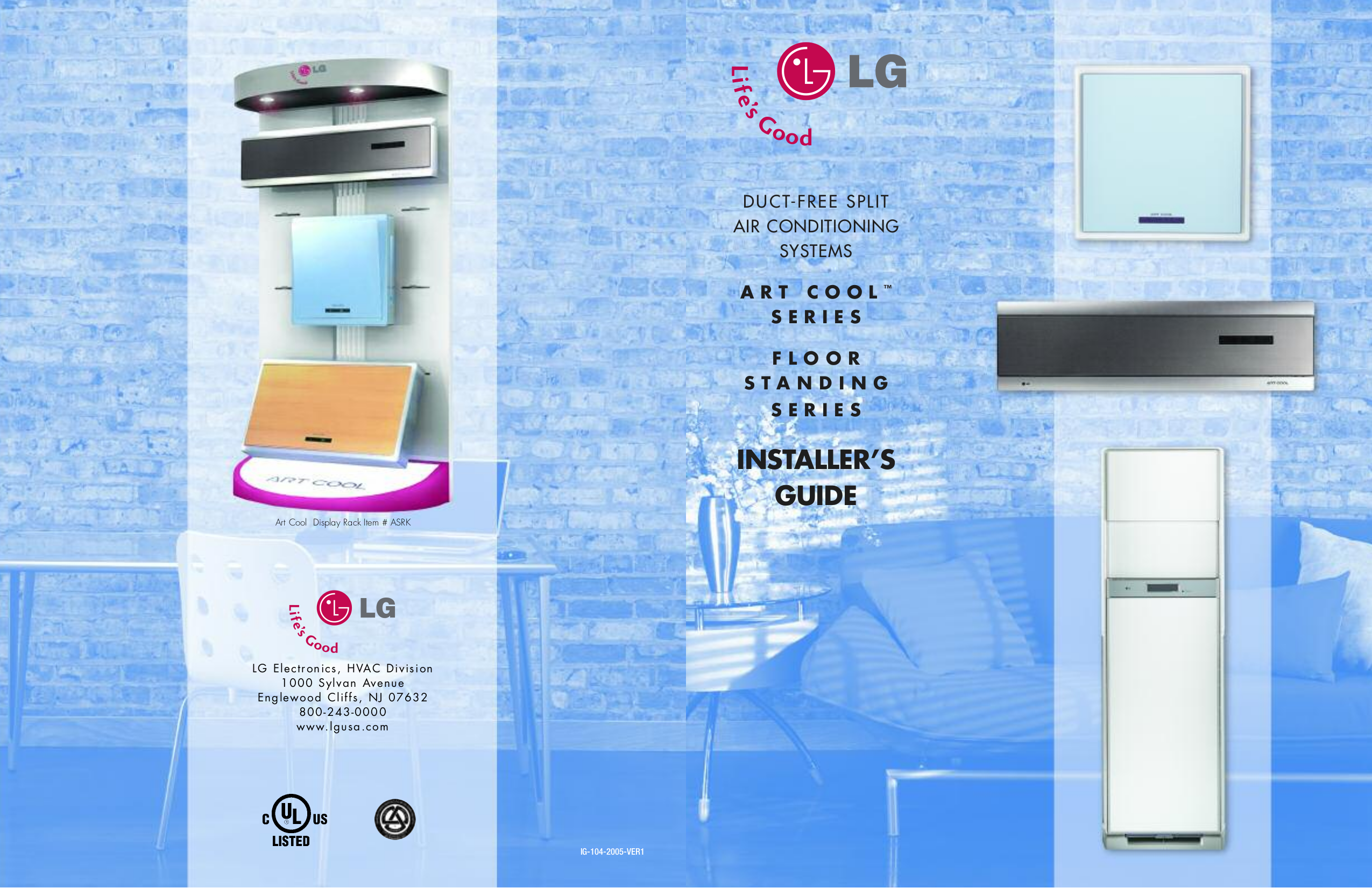 Air Conditioner Lg Art cool Manual