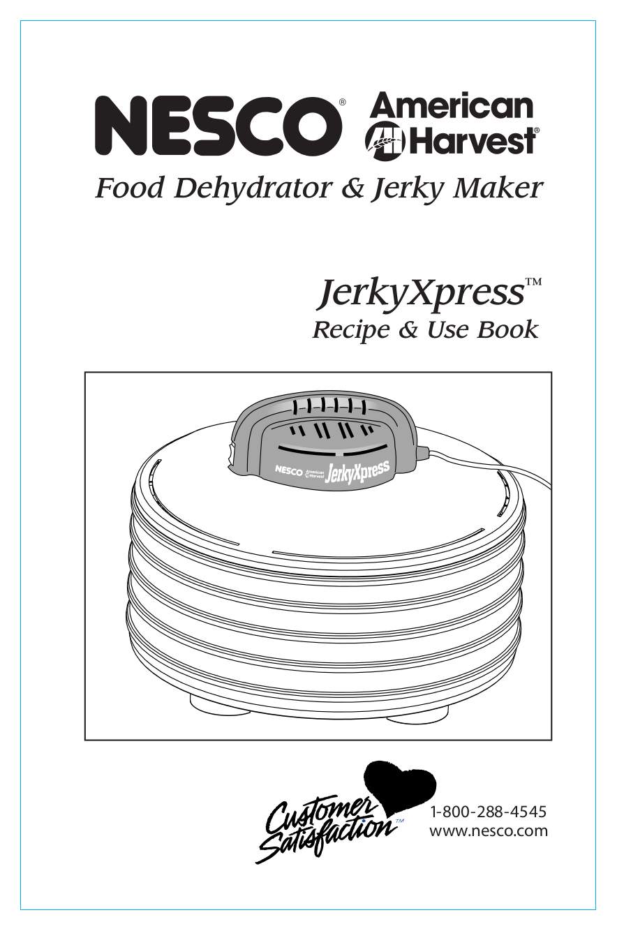 pdf for Nesco Other FD-35 Food Dehydrator manual