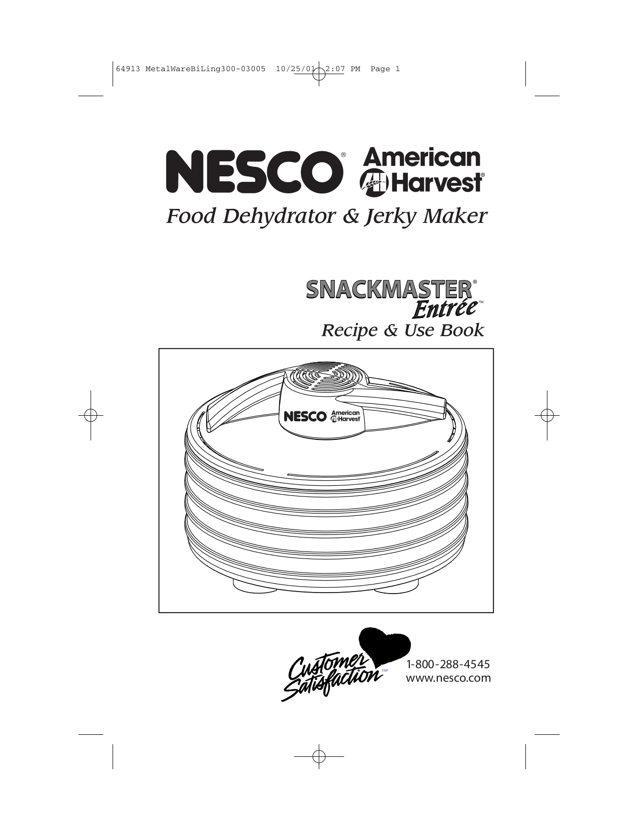 nesco professional food dehydrator manual