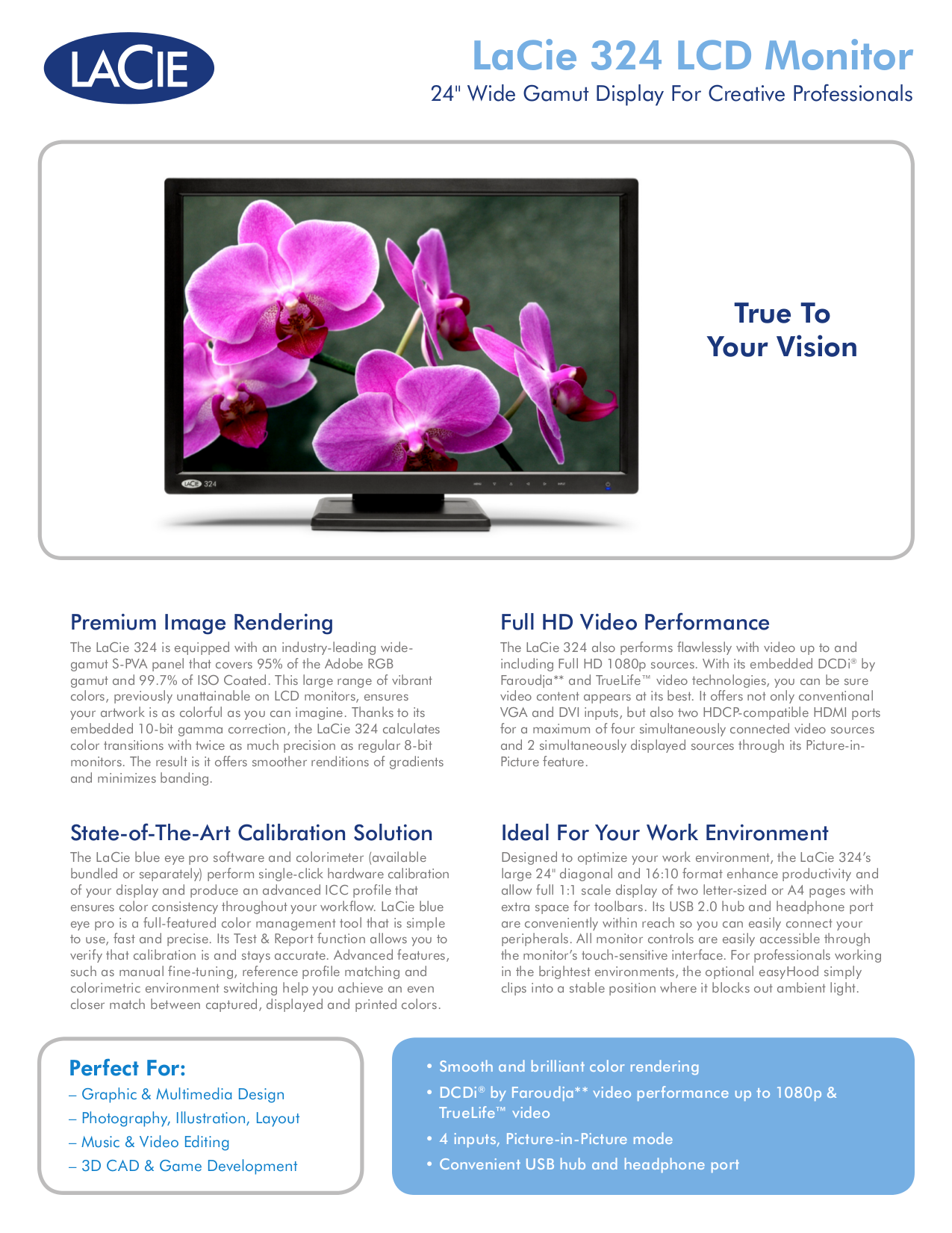 pdf for LaCie Monitor 324 manual
