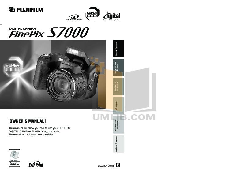 Finepix s7000 Manual Pdf