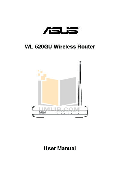 pdf for Asus Wireless Router WL-520gU manual