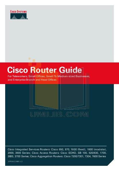 Cisco 800 series manual Pdf